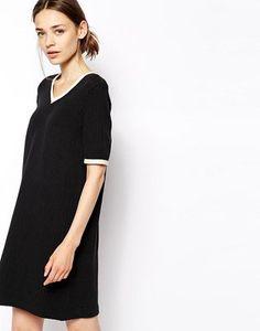 Ganni V Neck T-Shirt Dress