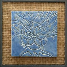 Spiritual Tree Mandala Tile – Blue