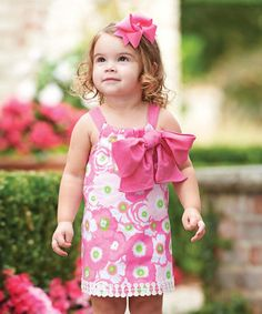 Look what I found on #zulily! Pink Lilly Pad Dress - Infant, Toddler & Girls #zulilyfinds