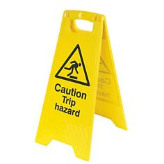 Screwfix Caution Trip Hazard A-Frame Safety Sign 600 x Reinforced plastic safety sign with durable stand. Warns against potential hazards. Folds flat for easy storage. http://www.MightGet.com/april-2017-1/screwfix-caution-trip-hazard-a-frame-safety-sign-600-x.asp
