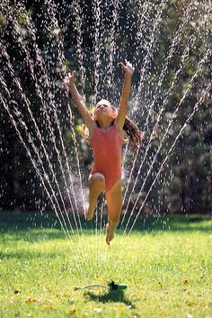 1) Summer Fun. Running in the sprinklers was always the best!