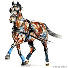 commissioned watercolour painting by Chloe Brown Chloe Brown, Brown Art, Contemporary Artwork, Horse Art, Watercolour Painting, Pet Portraits, Original Artwork, Wildlife, Horses