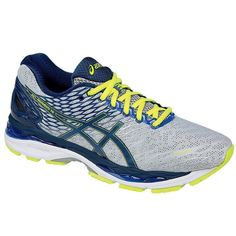 ASICS NEW IN BOX MENS GEL-NIMBUS 18 SILVER/INK/FLASH YELLOW SIZE 11.5(2E)WIDE