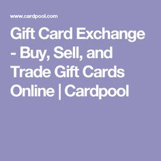 Gift Card Exchange - Buy, Sell, and Trade Gift Cards Online | Cardpool