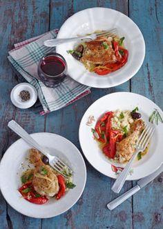 Orangen-Paprika-Hähnchen - Paprika: Salate, Suppen, Sättigendes - [LIVING AT HOME]