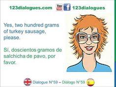 Dialogue 59 - Inglés Spanish - Shopping supermarket - En el supermercado - YouTube