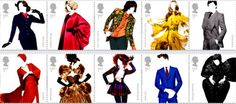 Great British Fashion Stamps Collection