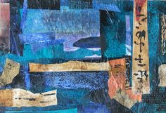 Shanti Marie - A Painting A Day: Abstract Art Collage in Blue - a ...