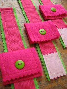 Ribbon and Felt Pocket Bracelets