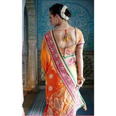 Yellow & Orange Color saris at Rs.7,180.22  #getit #sanginionline #yellow #fashion #indianfashion #trend #saris #wedding #bollywood