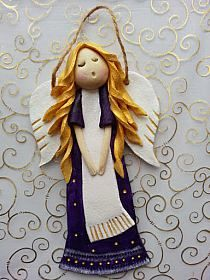 Niebieskie sukienki - Kasia Michalak-Zimnal - Picasa We… Clay Art Projects, Polymer Clay Projects, Clay Crafts, Christmas Angels, Christmas Art, Handmade Christmas, Christmas Ornaments, Clay Angel, Pottery Angels