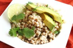 bobs red mill pearl coucous whole wheat with cilantro, lime, jalapeno and avocado recipe