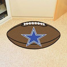 Dallas Cowboys Football Rug 22x35 by Fanmats. Dallas Cowboys Football Rug 22x35.