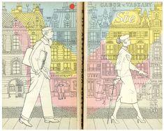 Cover of Gábor von Vaszary's book Sie, by design team Karl Groning Jr and Gisela Pferdmenges for German imprint rororo, 1950s