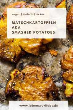 Smash it like a Pro! 🥔🤩 So zauberst du matschige, ABER unfassbar knusprige Smashed Potatoes! Foodblogger, Easy Peasy, Chicken Wings, Potatoes, Healthy Recipes, Meat, Vegans, German, Food Food