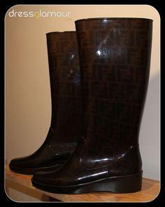Fendi 'Zucca' Rain Boot $290  DressGlamour.com
