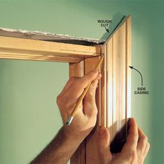 Tips for framing doors and windows and adding baseboards. Will be helpful when we have our own house.
