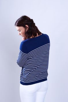 Classic Breton Striped Jumper by BIBICO