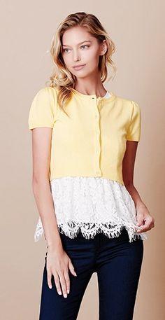LE3NO Womens Fine Knit Round Neck Bolero Shrug Cropped Cardigan at Amazon Women's Clothing store: