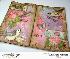 Annette's Creative Journey: Graphic 45 Botanical Tea Art Journal Pages; May 2015