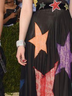 Dakota Johnson in 'My Old Flame' on the Met Gala red carpet. Manicure by Deborah Lippmann.
