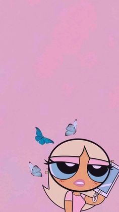 Butterfly Wallpaper Iphone, Cartoon Wallpaper Iphone, Iphone Background Wallpaper, Cute Disney Wallpaper, Retro Wallpaper, Cute Cartoon Wallpapers, Pretty Wallpapers, Pink Glitter Wallpaper, Hippie Wallpaper