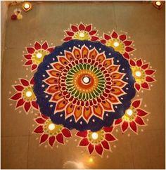 Rangoli Designs 2016, Rangoli Designs Simple Diwali, Rangoli Simple, Indian Rangoli Designs, Rangoli Designs Flower, Free Hand Rangoli Design, Rangoli Border Designs, Small Rangoli Design, Rangoli Patterns