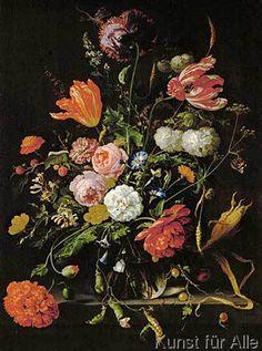 Jan Davidsz. de Heem - Still-life with flowers. Oil on canvas S