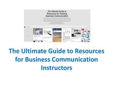 Here is your pathway to literally hundreds of resources you can use in your business communication or business writing classes tomorrow. Powerpoint Program, Writing Classes, Business Writing, Textbook, Teaching Resources, Communication, Communication Illustrations, Class Books