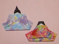 折り紙の雛祭り 簡単なお雛様(おひなさま)の折り方作り方 - YouTube