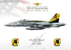 "UNITED STATES NAVY Strike Fighter Squadron TWO FIVE (VFA-25) ""Fist of the Fleet"" 1983 - 2012 F/A-18C ""Hornet"" CAG 400 VFA-25 JP-1095"