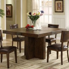 Riverside Belize Square Dining Table - Dining Tables at Hayneedle--will seat 8 people