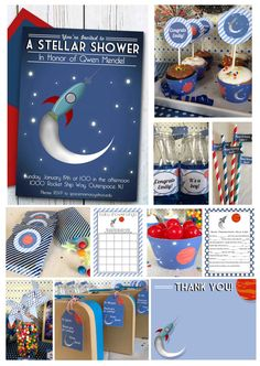 Outer Space Baby Shower Printable Package by DecoPartyPrintables, $19.00