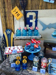 Shark Pool Party Ideas how cool is this shark themed party perfect for summer see more party Shark Summer Party Ideas