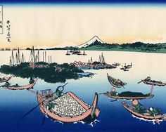 Tsukada Island in the Musashi province - Katsushika Hokusai