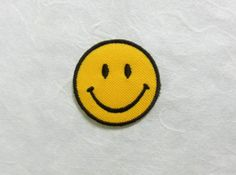 Smiley Face Iron on Patch Smiley Face by PoohmieCollection