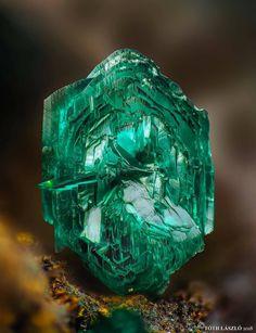 Brochantite from Rudabánya, Hungary