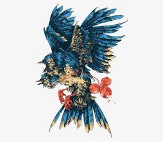 Ознакомьтесь с этим проектом @Behance: «Beasts / Feathers» https://www.behance.net/gallery/45541951/Beasts-Feathers