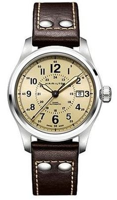 @hamiltonwfan Khaki Field Auto #bezel-fixed #bracelet-strap-leather #brand-hamilton #case-material-steel #case-width-40mm #date-yes #delivery-timescale-7-10-days #dial-colour-gold #dial-cream #gender-mens #luxury #movement-automatic #official-stockist-for-hamilton-watches #packaging-hamilton-watch-packaging #subcat-khaki-field #supplier-model-no-h70595523 #warranty-hamilton-official-2-year-guarantee #water-resistant-100m