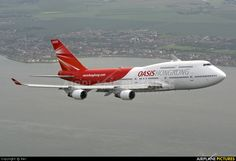 Oasis Hong Kong Airlines - Boeing 747-400 over Manston, Kent.