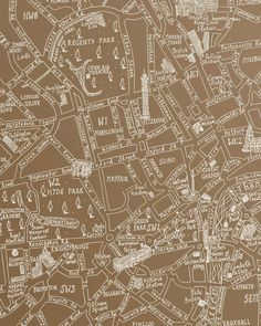 Metallic Gold London Map Wrap By Michael A Hill | Lagom Design