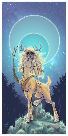The Golden Hind, a deer-woman