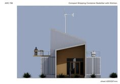 Other project in Nairobi, KE designed by Sandula Evgeniy - Compact Shipping Container Home