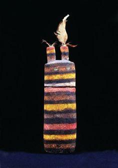 Poupée kachina Tatangaya, Hopi, coll BRETON certainement réalisée par vers la fin du XIXe siècle