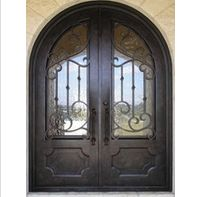 Simple elegant design iron door - www. European Style Homes, Spanish Style Homes, Front Door Decor, Front Doors, Front Porch, Wrought Iron Doors, Knobs And Knockers, Iron Work, Metal Projects