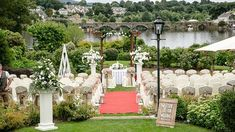 Outdoor weddings at The Lakeside Hotel Killaloe, co. Lakeside Hotel, Clare Ireland, Outdoor Weddings, Wedding Gallery, Arch, Sidewalk, Outdoor Structures, Garden, Longbow