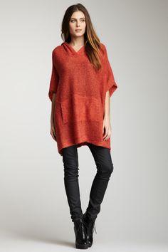 Hooded Knit Sweater Tunic by Vertigo.