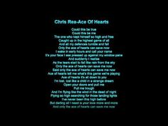Chris Rea - Ace Of Hearts - YouTube