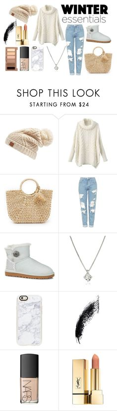 """It's getting chilly"" by nikkicouture ❤ liked on Polyvore featuring Rip Curl, Hat Attack, Topshop, UGG, Forzieri, Casetify, NARS Cosmetics and Urban Decay"