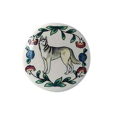 Siberian Husky Wine Bottle Stopper ThisSiberian Husky Wine Stopper features a Siberian Husky surrounded by a colorful floral pattern. A great gift for the Siberian Husky lover who also appreciates wi